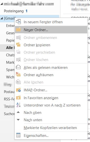 """Odner """"Alle Nachrichten"""" in  Outlook manuell hinzufügen"""