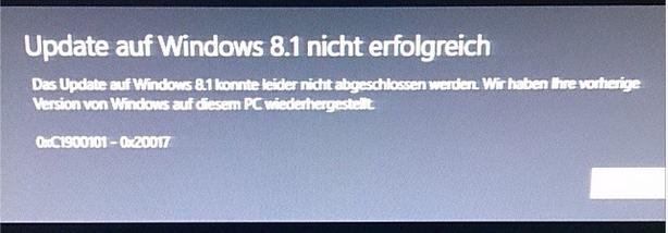 Windows 8 wurde wiederhergestellt